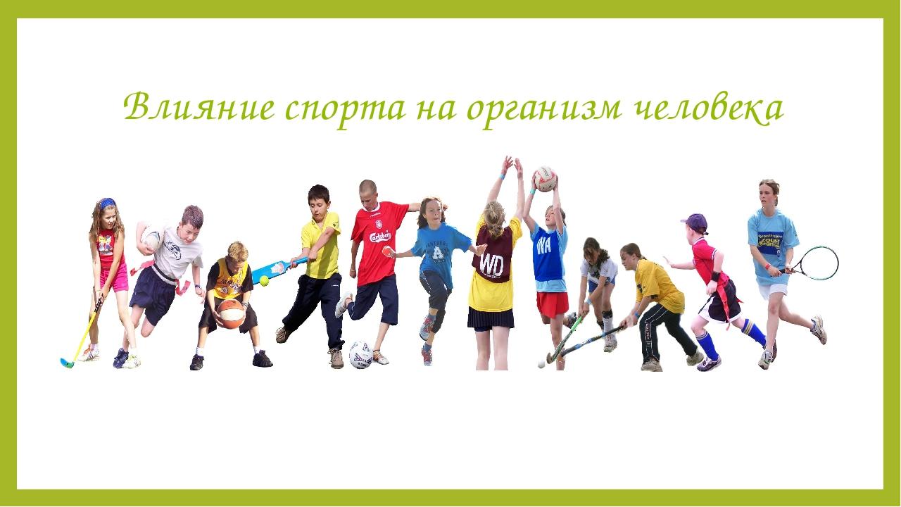 Воздействие физкультуры и спорта на организм человека
