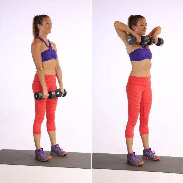 Упражнения с гантелями для женщин на все мышцы