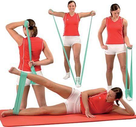 Упражнения с эластичной лентой, плюсы и минусы, эффективные программы