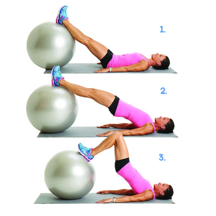 Упражнения с фитболом для накачки мышц пресса, ягодиц, бедер и похудения