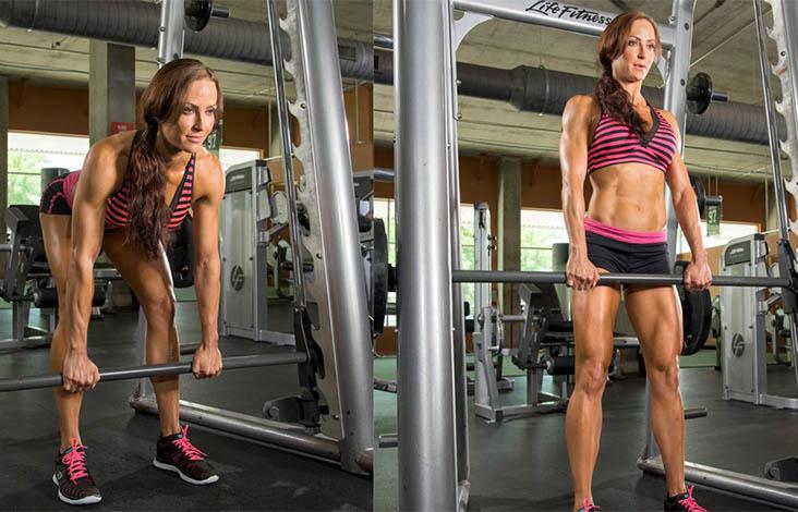 Становая тяга на прямых ногах: особенности упражнения