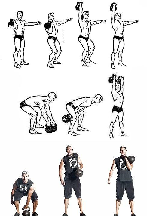 4 тренировки с гирями для начинающих