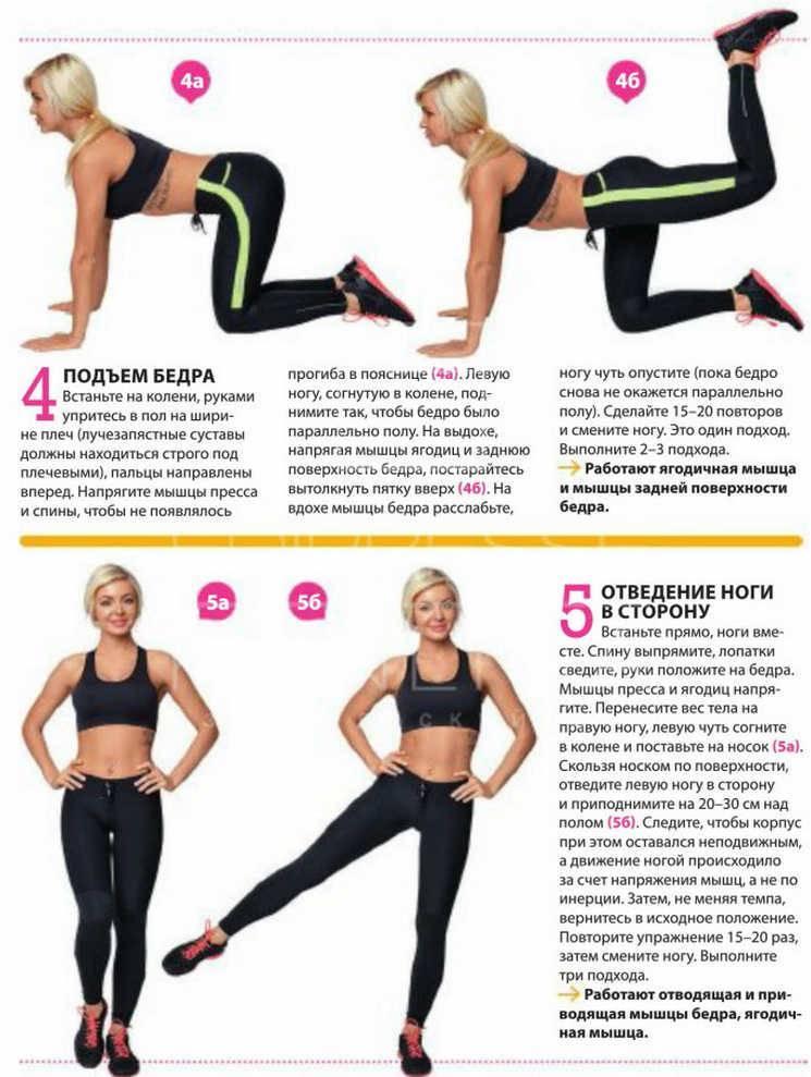Упражнения для похудения попы - лучших комплекс тренировок