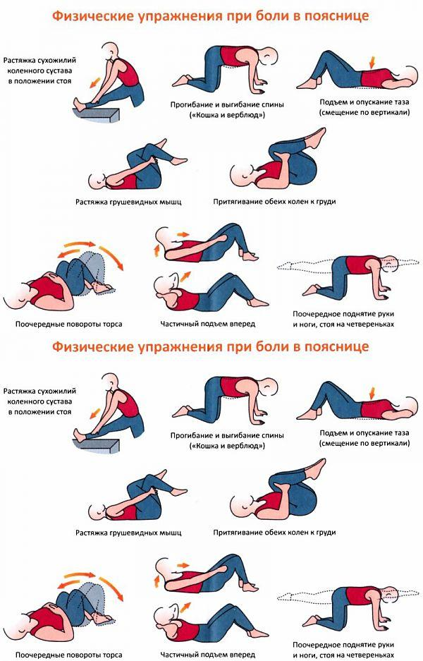 Упражнения от болей в спине и пояснице: практика йоги и лфк