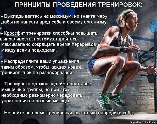 Кроссфит для похудения для девушек: эффективная программа тренировок