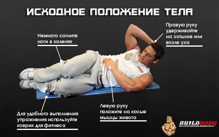 Правильная техника упражнения боковые скручивания на пресс