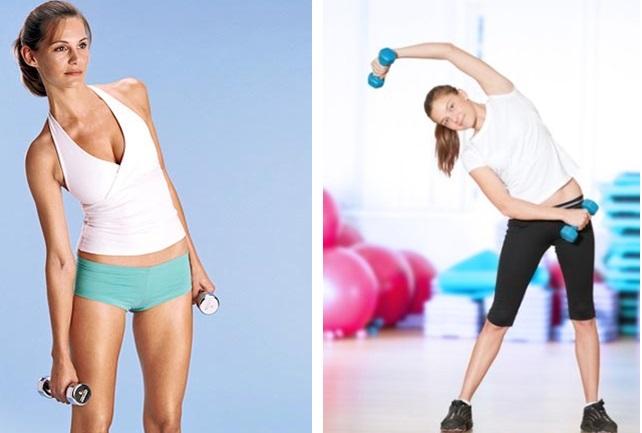 Упражнения для талии: планка, комплекс с дополнительной нагрузкой, силовые с гантелями