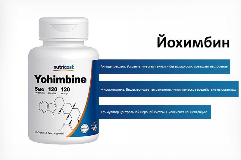 Йохимбин – эффективный жиросжигатель