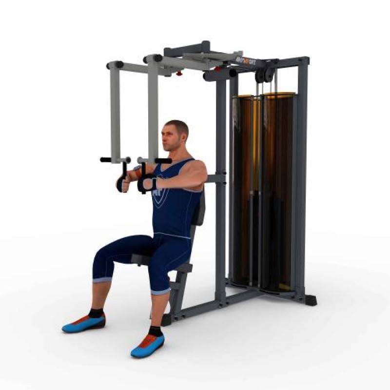 Обратные разведения в тренажере: фото и видео упражнения