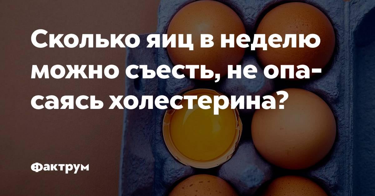 Сколько яиц можно есть в день – примерные количества