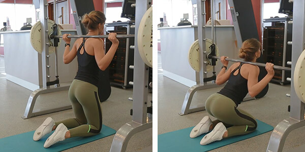 Гуд монинг с колен: техники выполнения упражнения в Смите и в домашних условиях