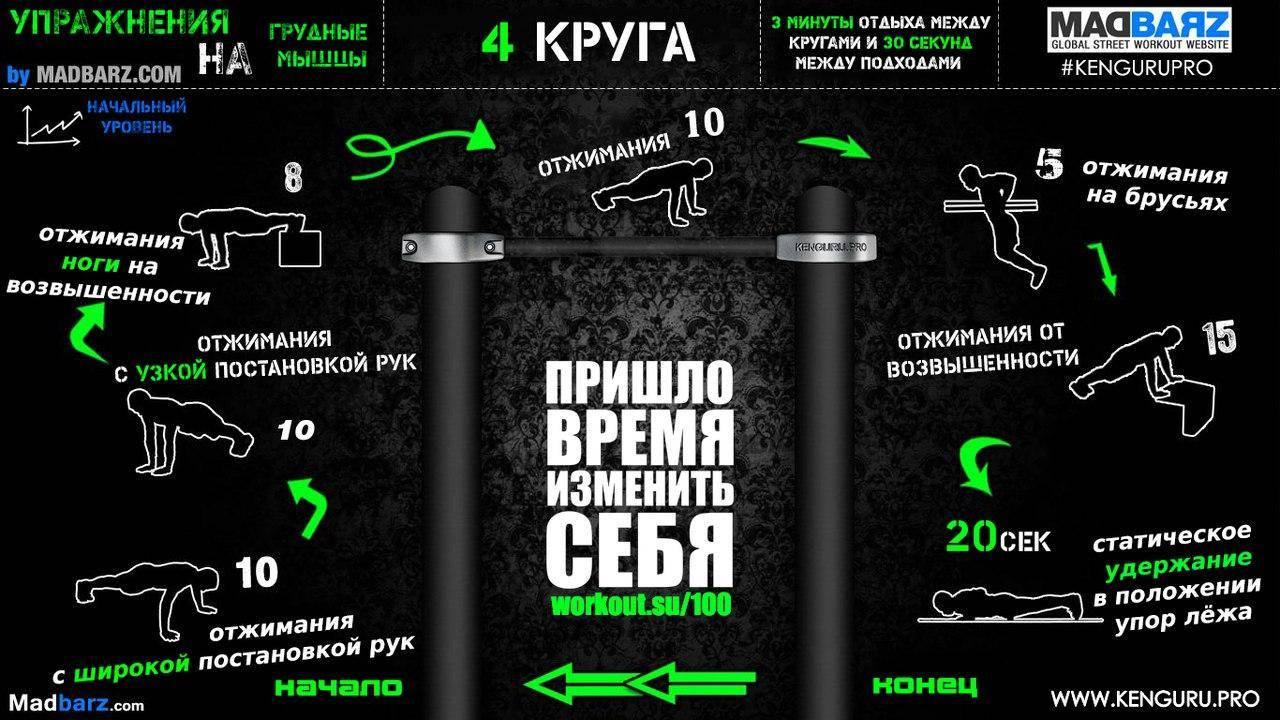 Программы тренировок воркаут для начинающих и опытных спортсменов | rulebody.ru — правила тела