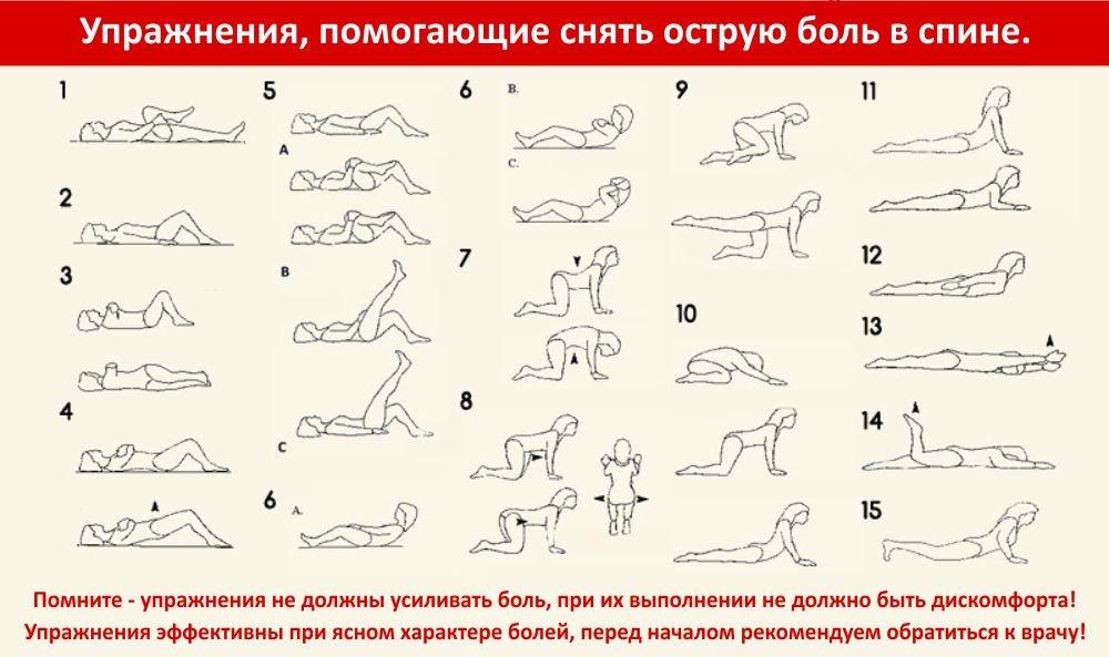 15 упражнений для мгновенного облегчения боли в пояснице