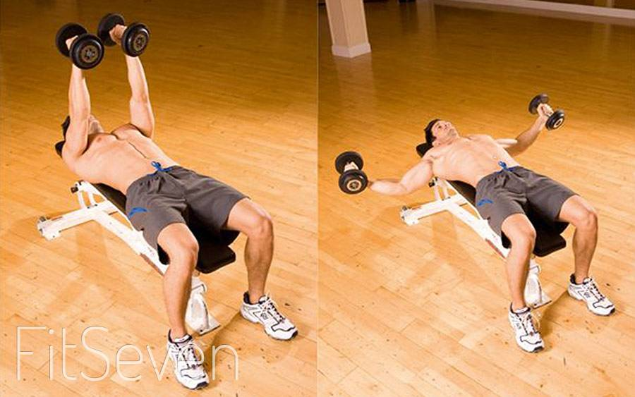 Как накачать грудь гантелями: топ 3 упражнения с гантелями на грудные мышцы