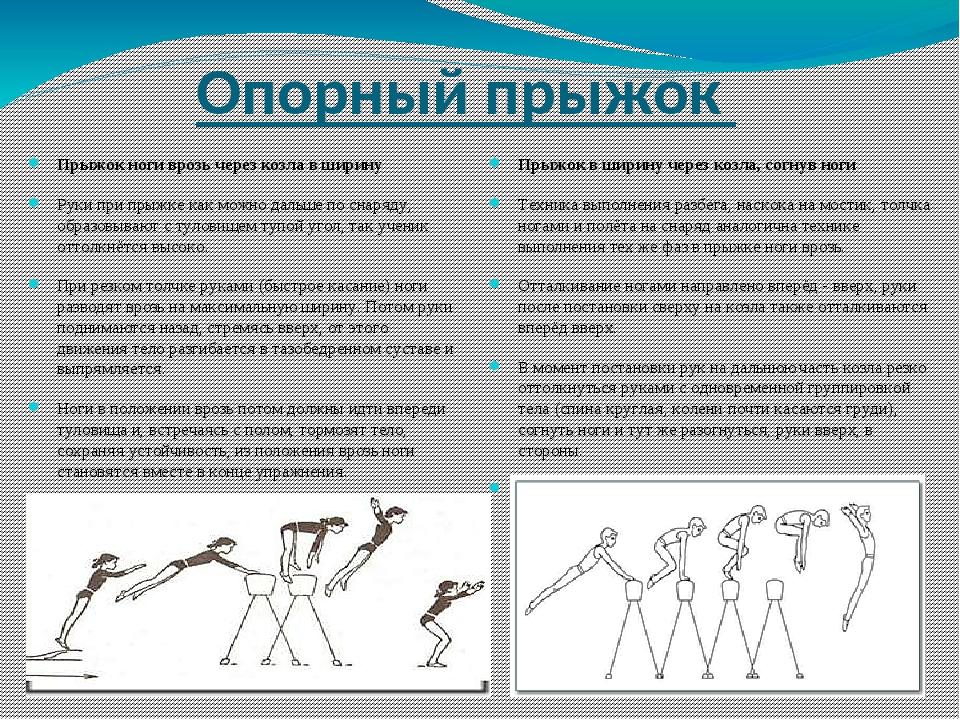 Прыжки через козла или коня - техника выполнения