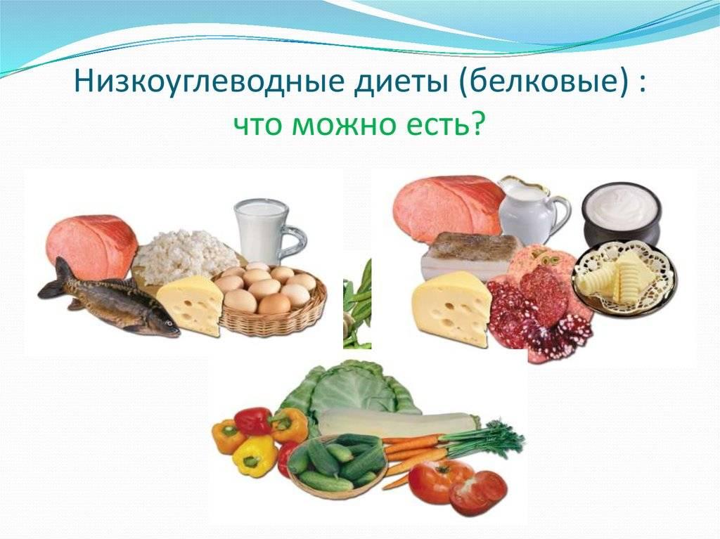 Таблица продуктов для низкоуглеводной диеты