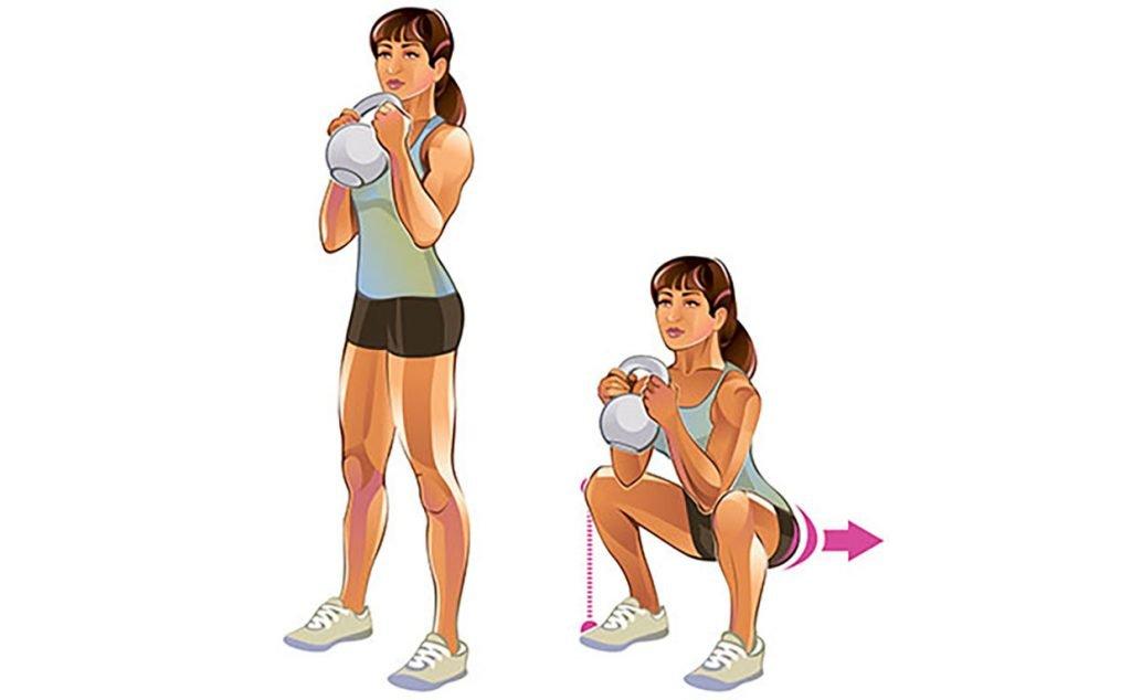 6 упражнений с гирей, которые вы никогда не пробовали - dailyfit
