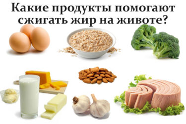 Продукты, сжигающие жир на животе и боках, правила питания