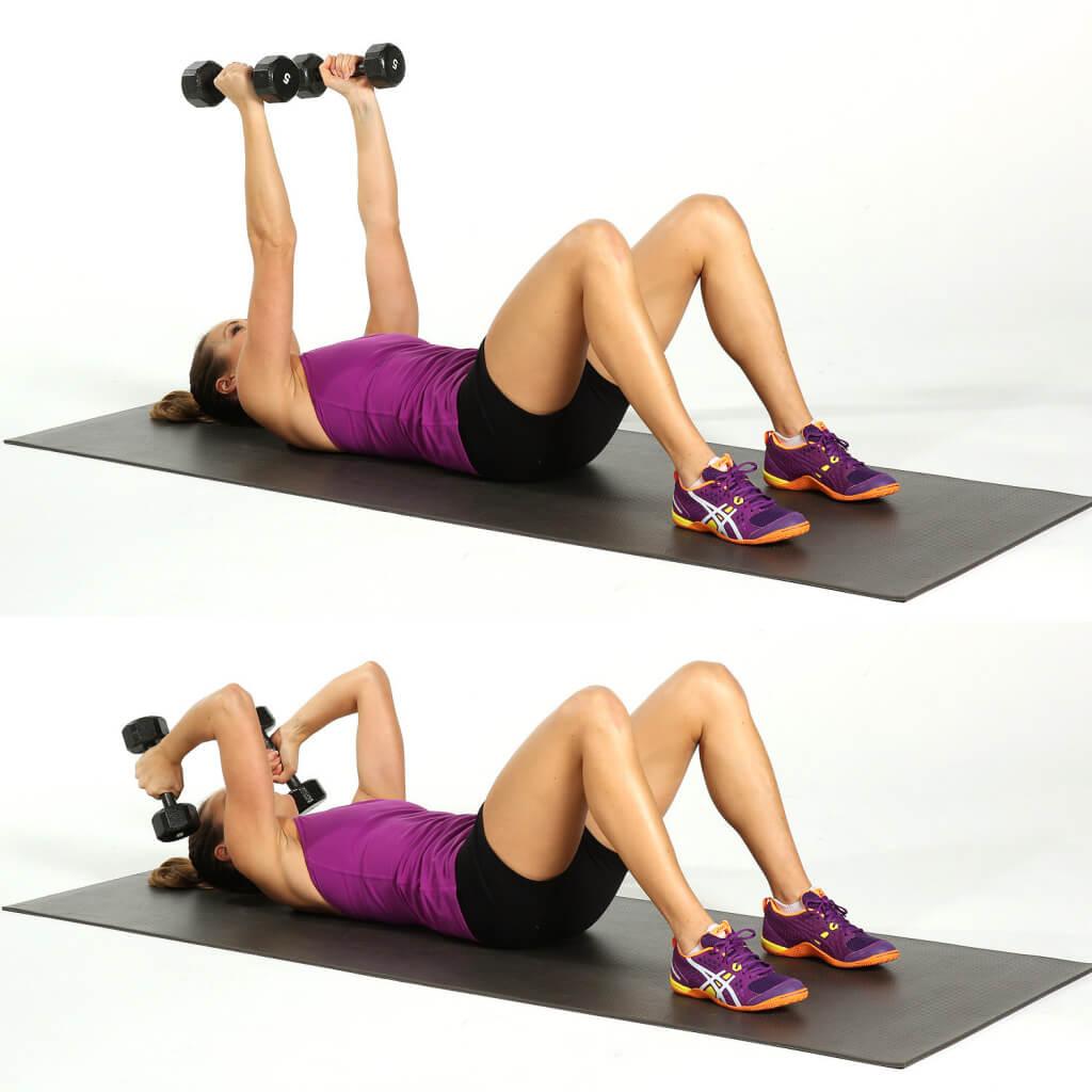 Упражнения для трицепса для женщин и молодых девушек: как накачать мышцы рук с гантелями, другим весом и без снарядов