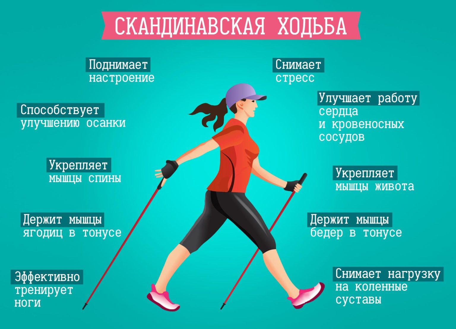 Скандинавская ходьба для похудения: техника ходьбы с палками