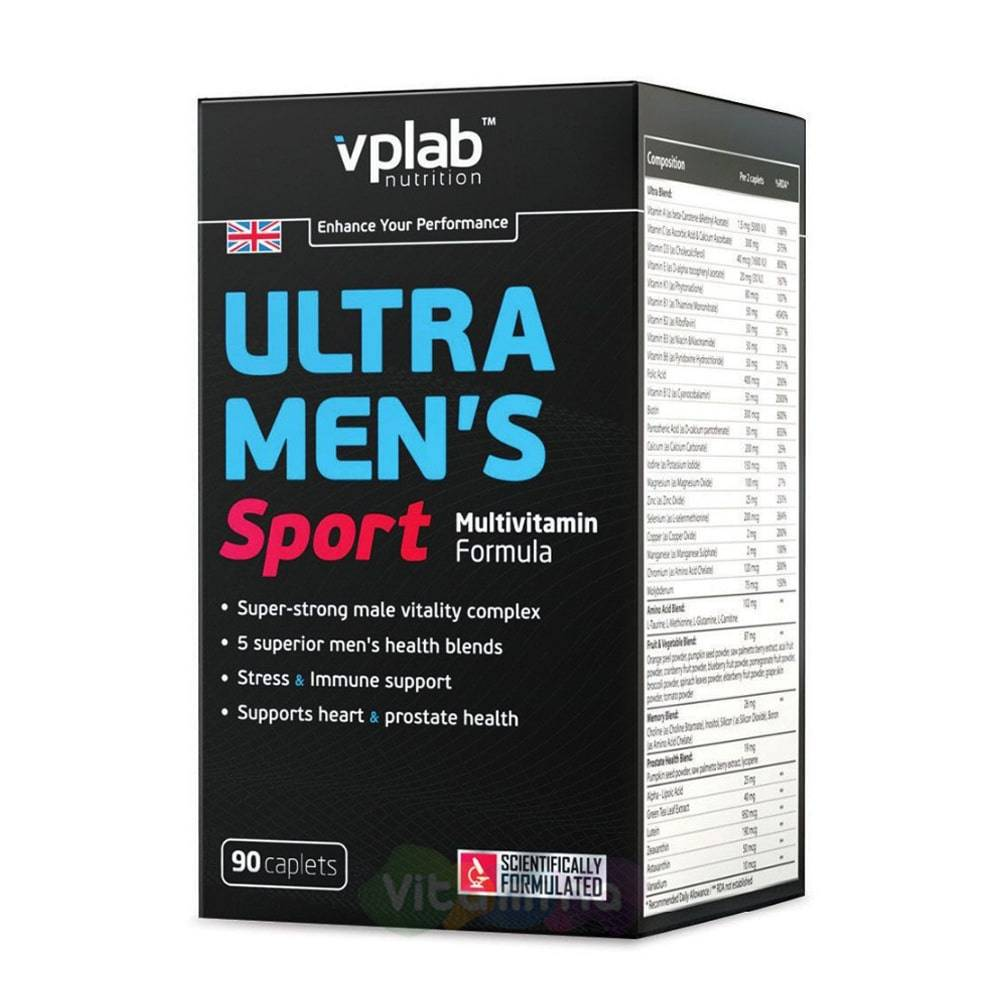 Ultra men's sport multivitamin formula 180 табл (vp laboratory)