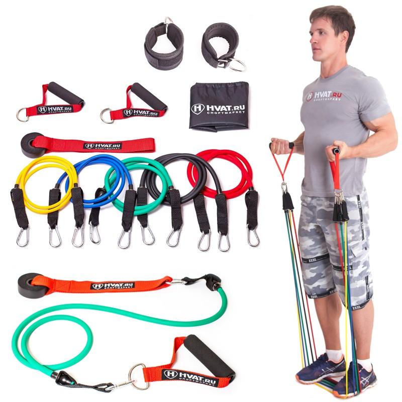 18 упражнений с эспандером на все мышечные группы