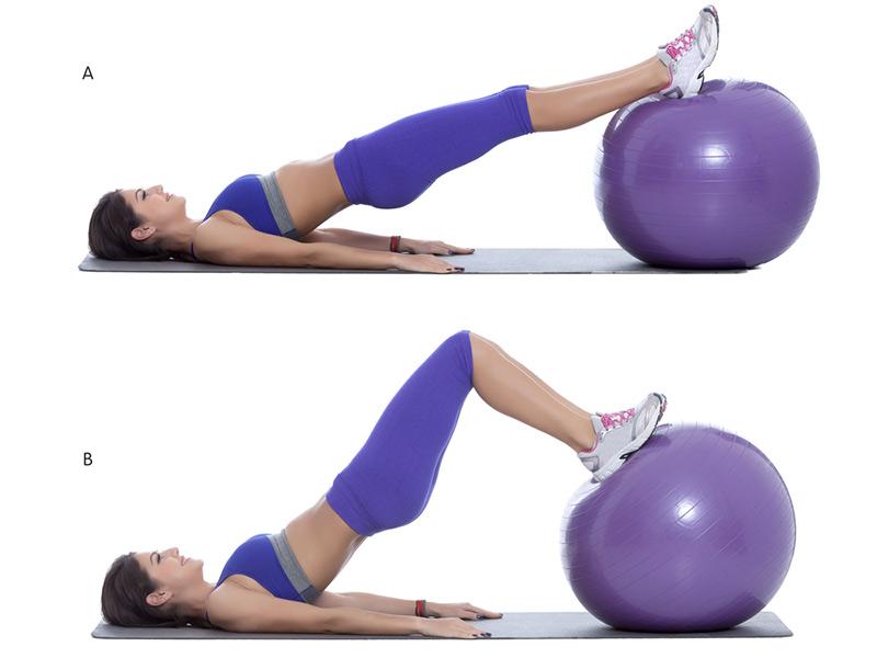 Упражнения на фитболе для похудения - для пресса, живота, бедер, ягодиц