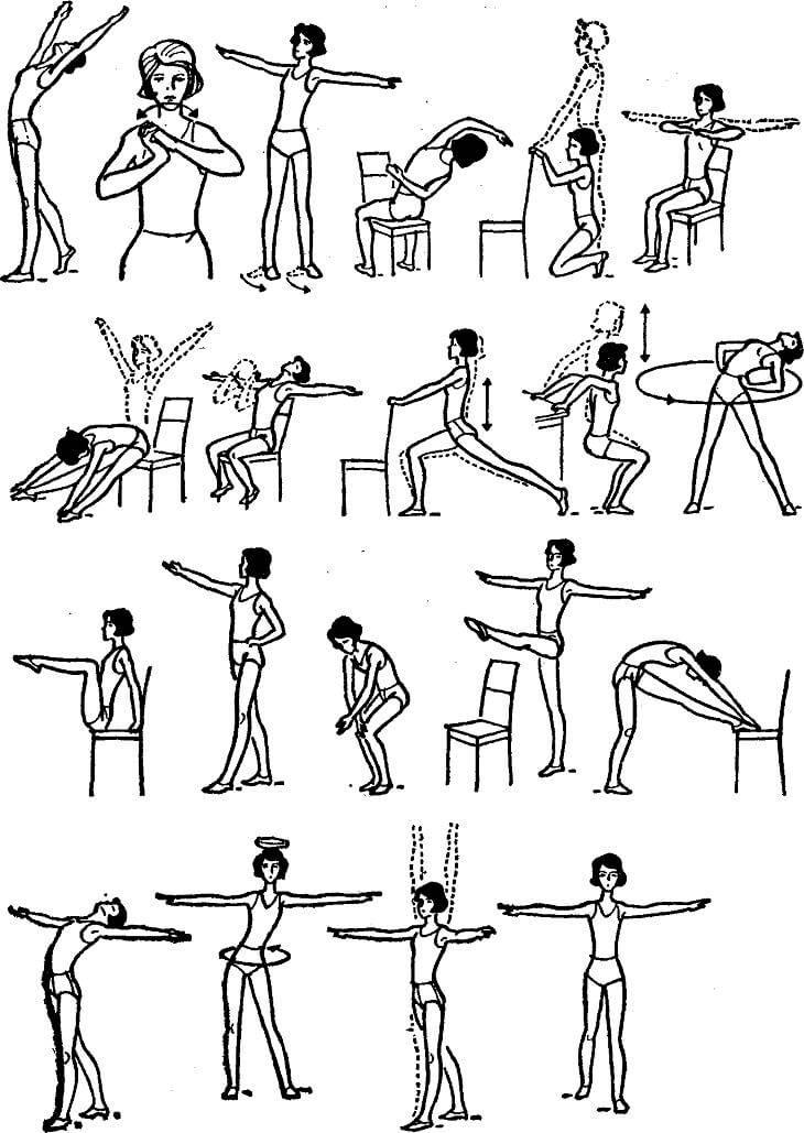 Упражнения для ровной осанки
