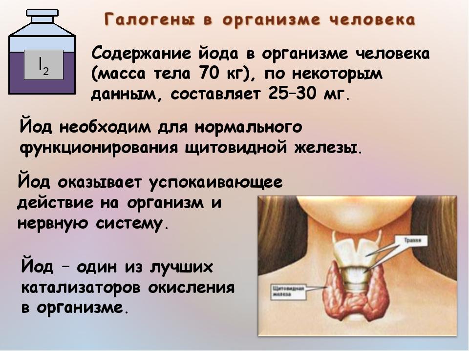 Какую роль играет йод в организме человека?
