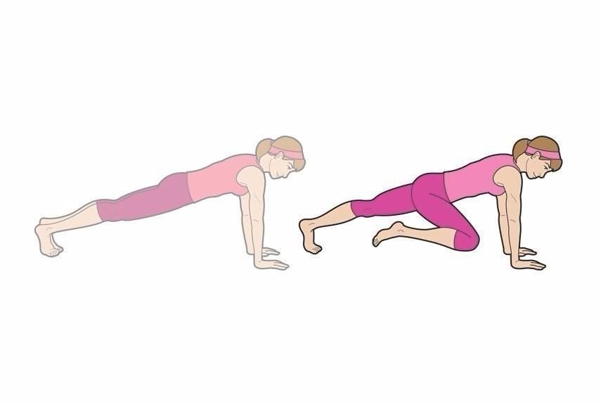 Упражнение скалолаз - пошаговая техника +52 варианта выполнения