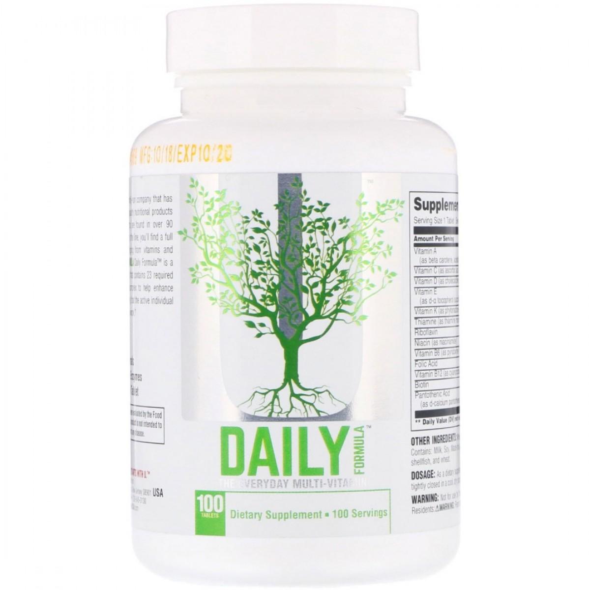 Витамины daily formula: описание, состав, инструкция по применению и отзывы