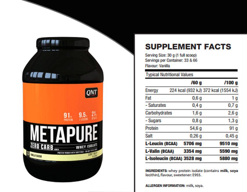 Metapure zero carb от qnt