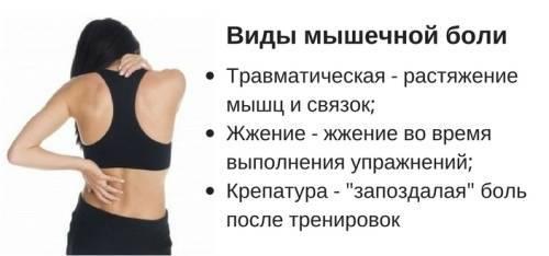 Боль в мышцах после тренировки. что делать, если болят мышцы?