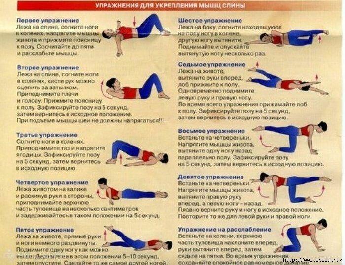 Упражнения для поясницы – лучший комплекс для укрепления мышц. инструкция, как уменьшить боль в пояснице. топ-20 самых эффективных методик!