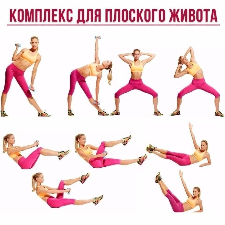 Комплекс эффективных упражнений для тонкой талии и плоского живота в домашних условиях