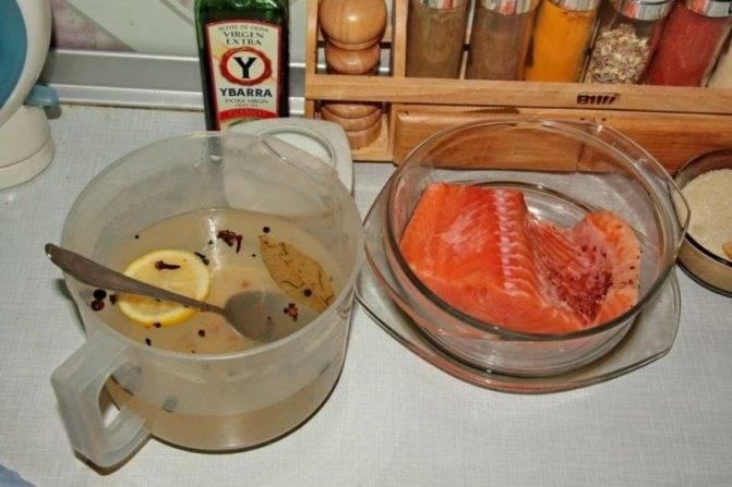 Соленая красная рыба за 2 часа – кулинарный рецепт