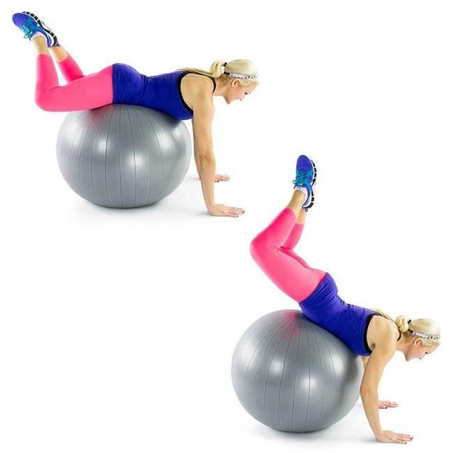 Упражнения на мяче для позвоночника для начинающих