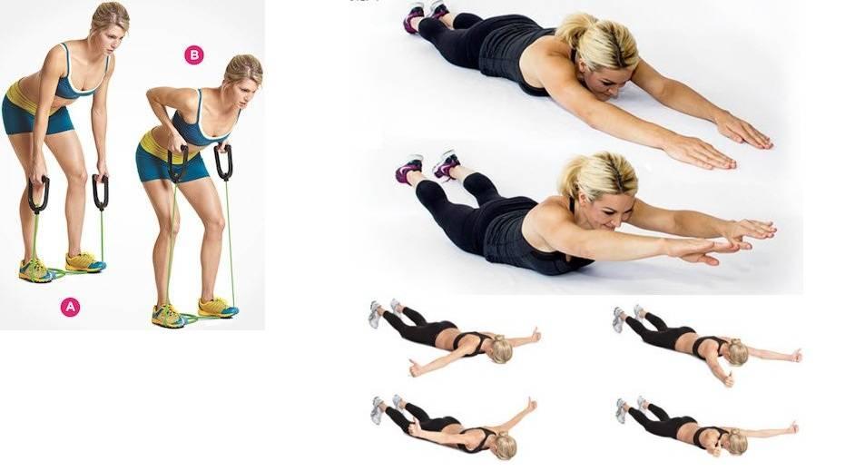 Как убрать складки и жир на спине у женщин, упражнения для похудения спины