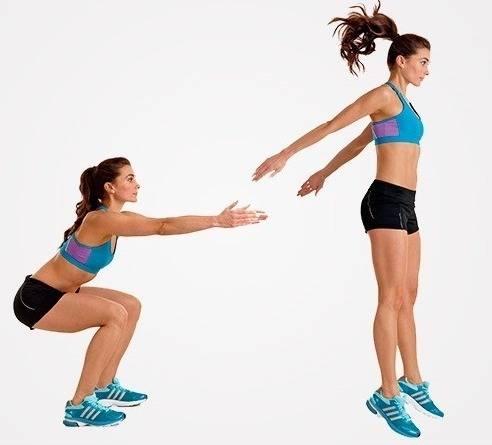 Приседания с выпрыгиванием: техника выполнения приседания с прыжком