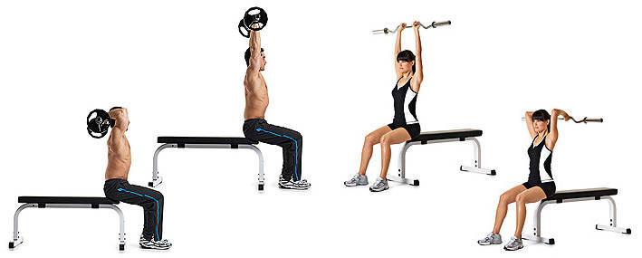 Комплексы упражнений со штангой или грифом для мужчин и женщин в домашних условиях