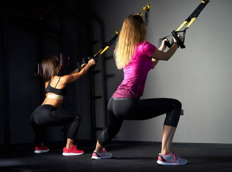 Топ 65 упражнений на петлях trx для начинающих женщин на пресс, спину, ягодицы, ноги, лечи и руки