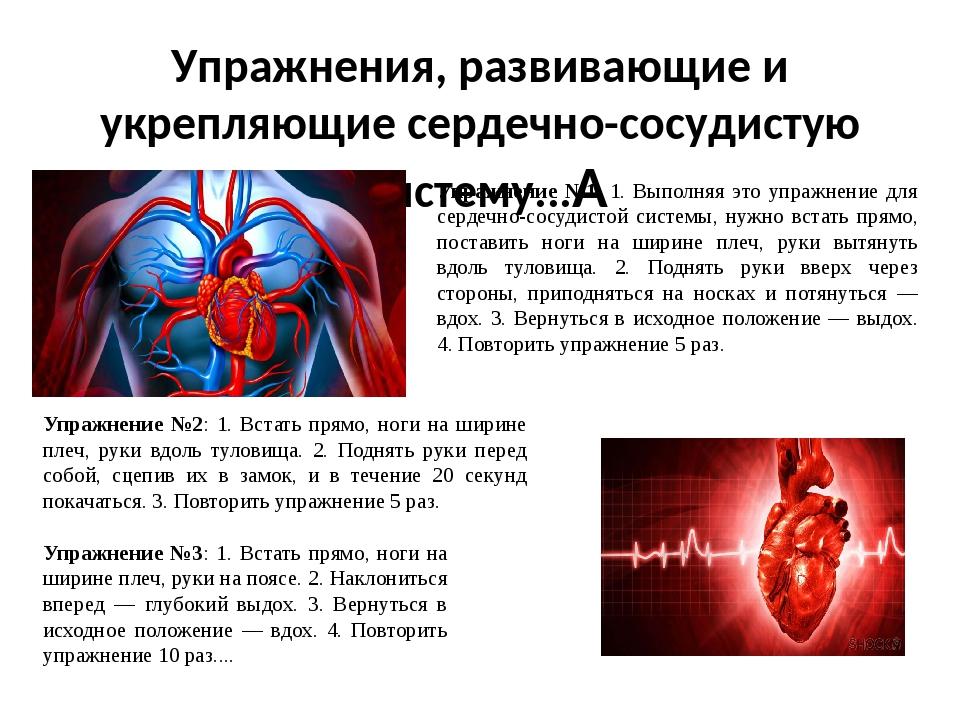 Полезные и нужные упражнения для сердца