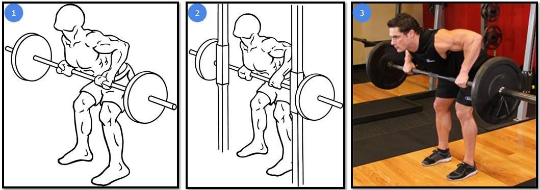 Выполнение тяги штанги к поясу в наклоне: различные хваты, правильная техника, советы