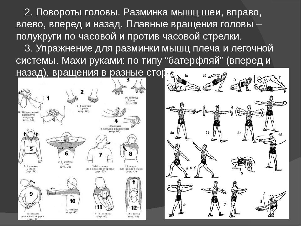 Комплекс упражнений для разминки перед силовой тренировкой