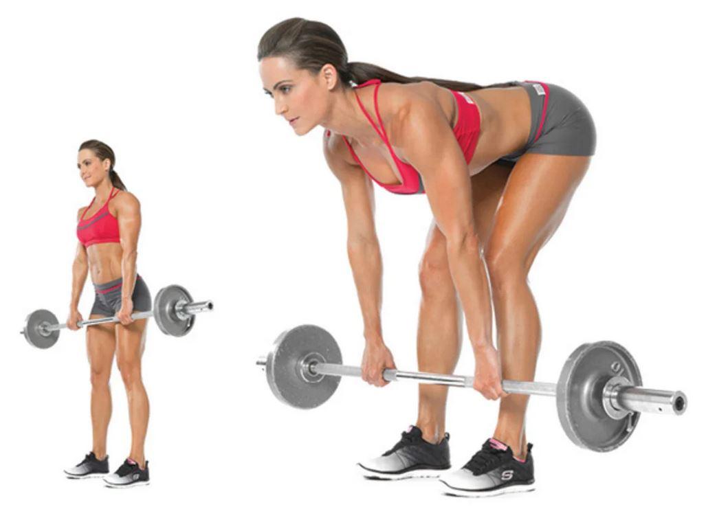 Техника выполнения становой тяги на прямых ногах, схема тренировок