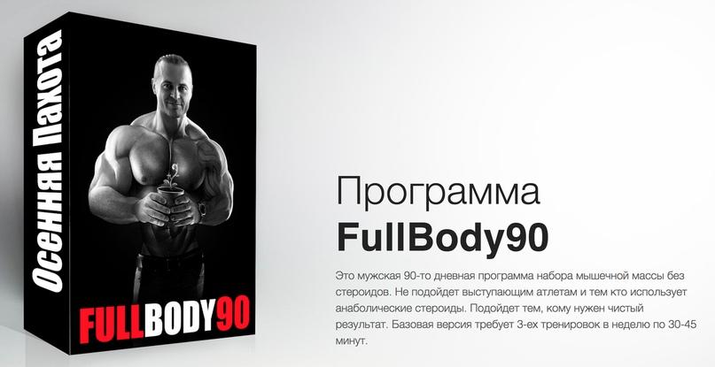 Full body (фулбоди, фулбади) тренировки, пример программы