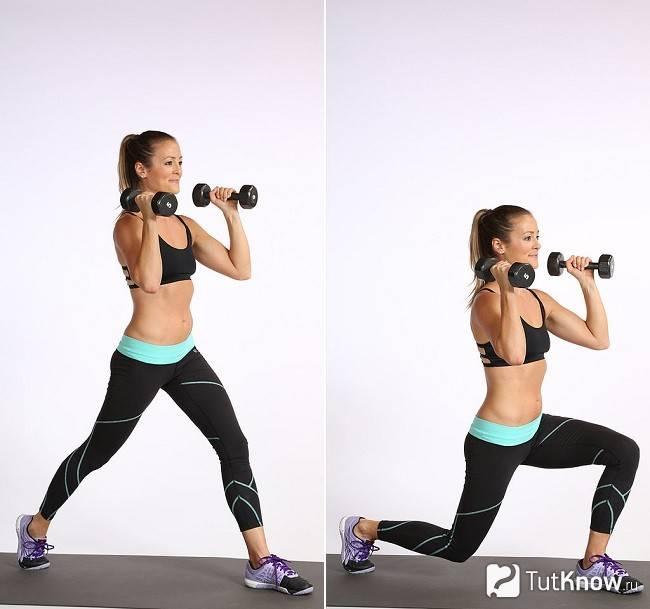 Упражнения с гантелями для девушек (дома, в зале): комплексы занятий для похудения и рельефа, видео