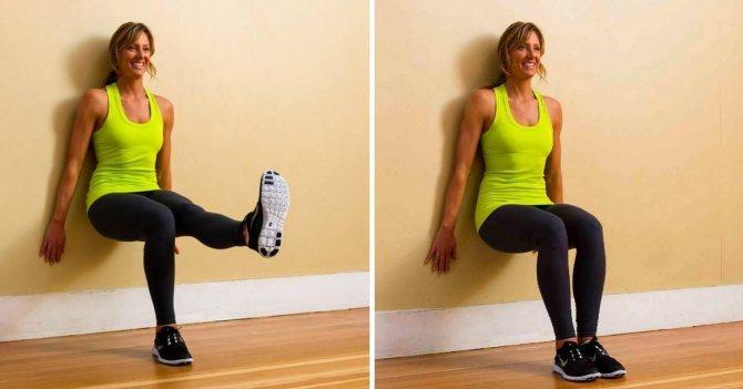 Упражнение стульчик без стены. техника выполнения упражнения стульчик у стены. как правильно делать упражнение стульчик у стены