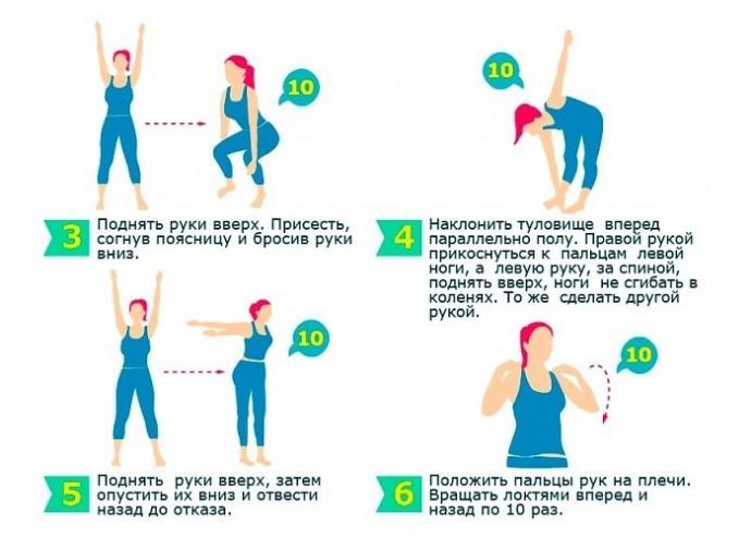 Утренняя и вечерняя зарядка для похудения в домашних условиях   rulebody.ru — правила тела