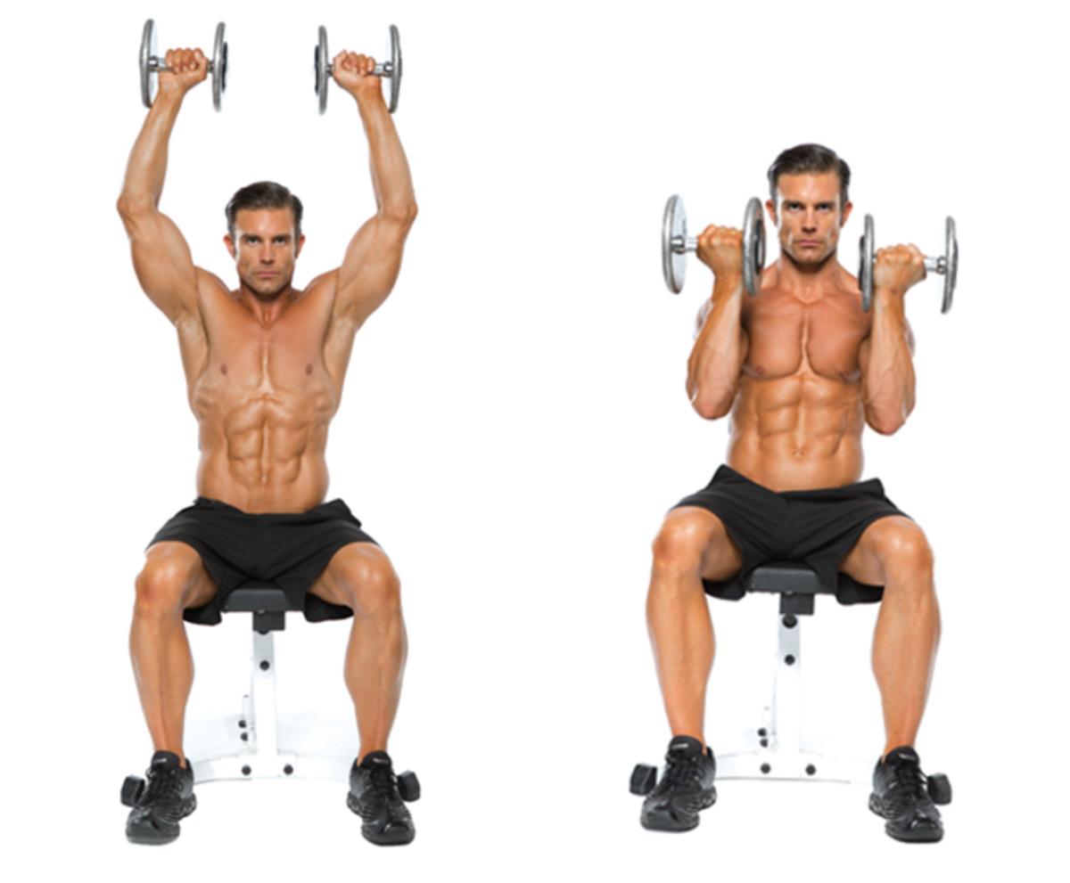 Программа тренировок с гантелями для мужчин